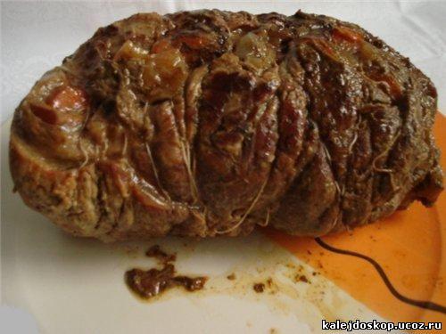 Говяжий огузок запеченный в духовке рецепт